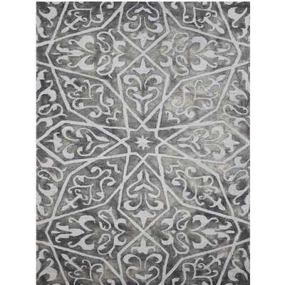 Julio Hand-Tufted Gray Area Rug Rug Size: 5 x 8