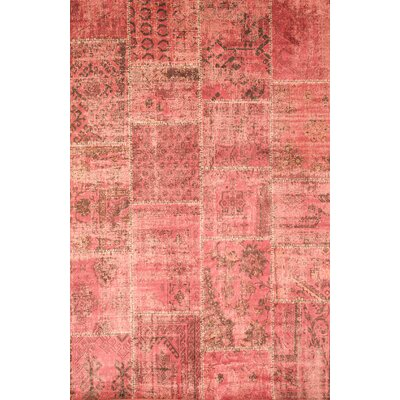 Scott Raspberry Area Rug Rug Size: 53 x 76