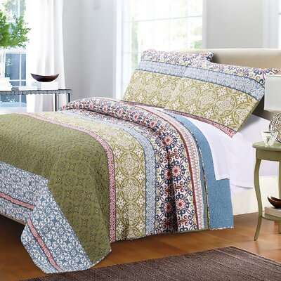 Rodrigo Cotton Quilt Set Size: Full/Queen Quilt Set