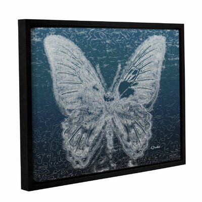 'Lacey Butterfly 2' Framed Graphic Art Print on Canvas Size: 14
