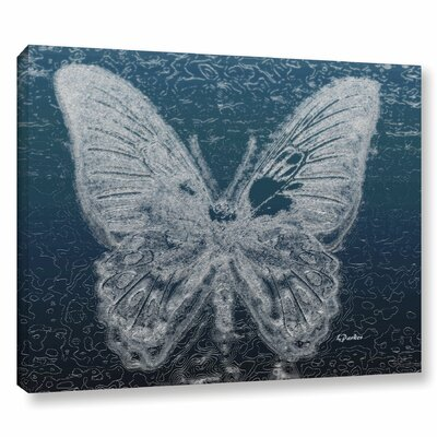 'Lacey Butterfly 2' Graphic Art Print on Canvas Size: 14