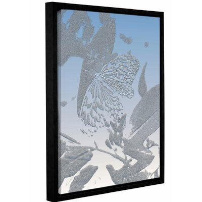 'Morning Butterfly' Framed Graphic Art Print on Canvas Size: 10