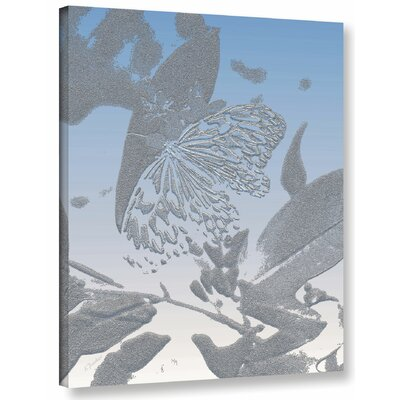 'Morning Butterfly' Graphic Art Print on Canvas Size: 10
