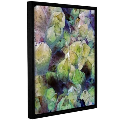 'Pastel Crystals' Framed Graphic Art Print on Canvas Size: 10