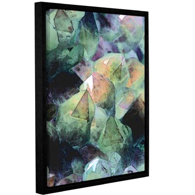 'Pastel Crystals 2' Framed Graphic Art Print on Canvas Size: 10