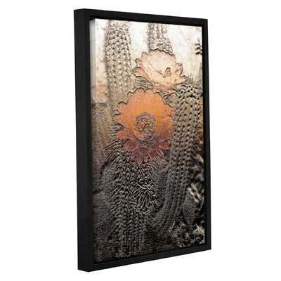 'Prickley Desert Flora' Framed Graphic Art Print on Canvas Size: 12