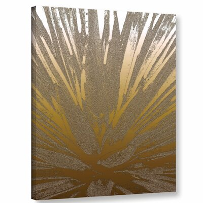 'Modern Agave Gold' Graphic Art Print on Canvas Size: 10