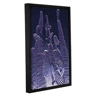 'Amethyst Saguaro Copy' Framed Graphic Art Print on Canvas Size: 12