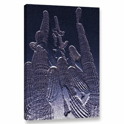 'Amethyst Saguaro Copy' Graphic Art Print on Canvas Size: 12