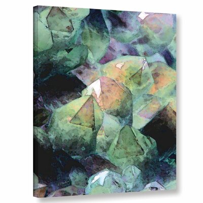 'Pastel Crystals 2' Graphic Art Print on Wrapped Canvas Size: 10