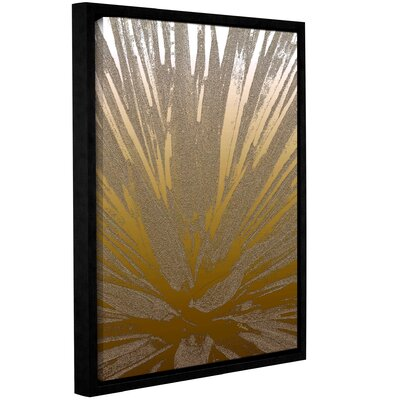 'Modern Agave Gold' Framed Graphic Art Print on Canvas Size: 10