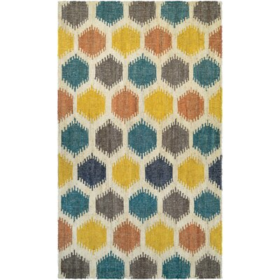 Jemnice Hand Woven Linen/Ocean Area Rug Rug Size: Rectangle 53 x 76