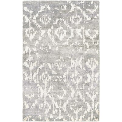 Charlotta Hand-Woven Gray/Ivory Area Rug Rug Size: Rectangle 35 x 55