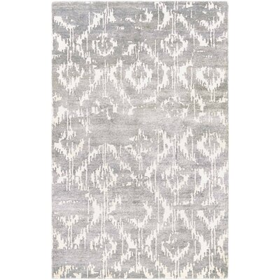 Charlotta Hand-Woven Gray/Ivory Area Rug Rug Size: Rectangle 56 x 8