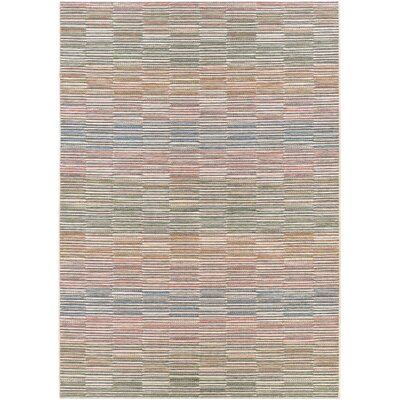 Belgium Gray/Blue Indoor/Outdoor Area Rug Rug Size: 53 x 76