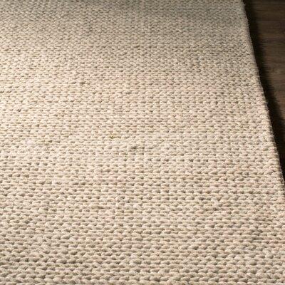 Zayan Meika Chunky Wool Cable Beige Area Rug