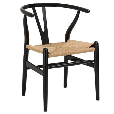 Khalil Solid Wood Dining Chair Finish: Black