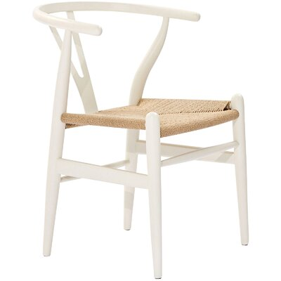 Khalil Solid Wood Dining Chair (Set of 2) Finish: White