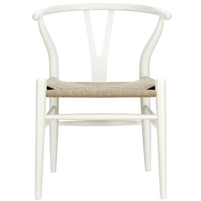 Khalil Solid Wood Dining Chair Finish: White