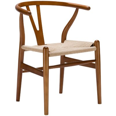 Khalil Solid Wood Dining Chair Finish: Walnut