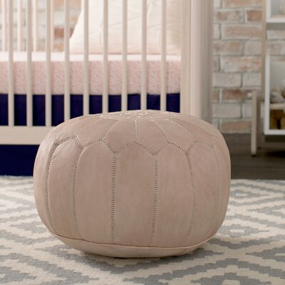 Mouassine Pouf Leather Ottoman Upholstery: Tan