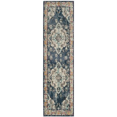 Newburyport Navy/Light Blue Area Rug Rug Size: Runner 22 x 18