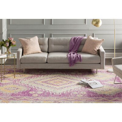 Carlotta Hand-Tufted Purple Area Rug Rug Size: 2 x 3