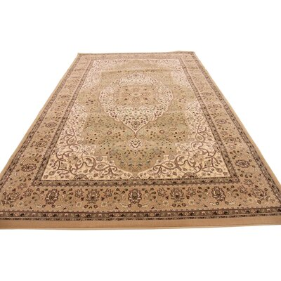 Yareli Green/Brown Area Rug Rug Size: 2 x 3