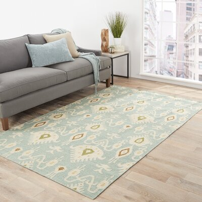 Tommy Hand-Woven Blue Area Rug Rug Size: 2 x 3