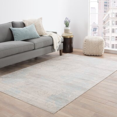 Julien Gray/Ivory Area Rug Rug Size: Rectangle 5' x 7'6