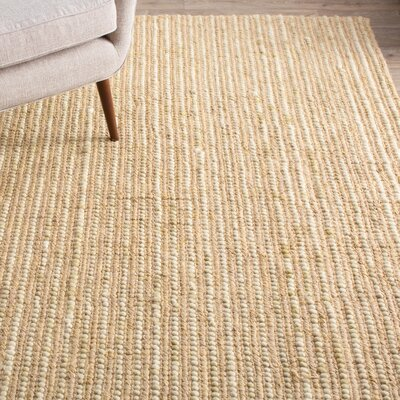 Makhi Hand-Knotted Beige Area Rug Rug Size: Rectangle 4 x 6