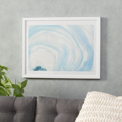 Bungalow Rose Watercolor Geode X Framed Painting Print