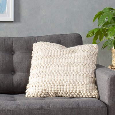 Yassir Woven Stripe Throw Pillow Color: Beige