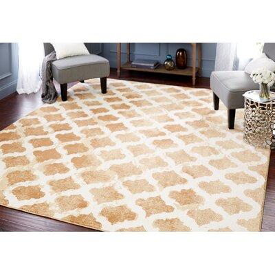 Shimizu Brown/Beige Area Rug Rug Size: Rectangle 53 x 710