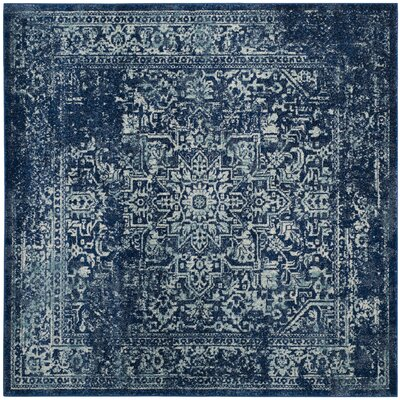 Elson Navy Area Rug Rug Size: Square 9'