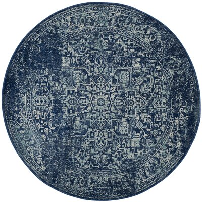Ameesha Blue/Beige Area Rug Rug Size: Round 67