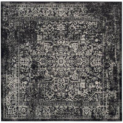 Ameesha Black/Gray Area Rug Rug Size: Square 6'7