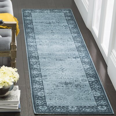 Makenna Light Blue Area Rug Rug Size: Runner 22 x 8