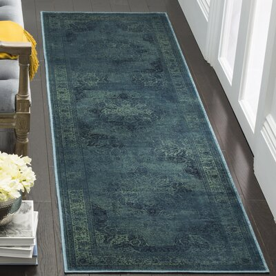 Atkinson Turquoise Area Rug Rug Size: Runner 22 x 8