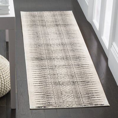 Ameesha Ivory/Gray Area Rug Rug Size: Runner 2'2