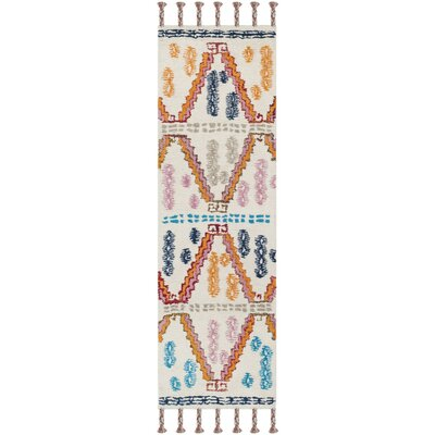 Lockheart Hand-Tufted Orange/Blue Area Rug Rug Size: Runner 23 x 8