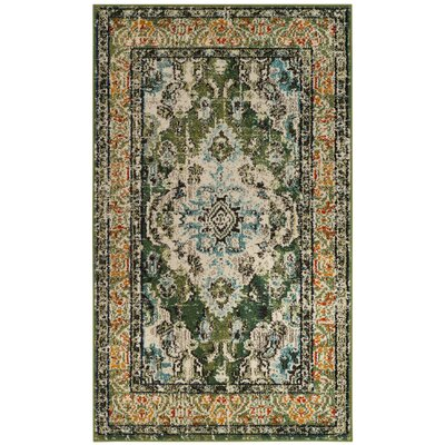 Newburyport Green Area Rug Rug Size: 3 x 5