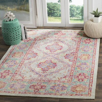 Bangou Spa/Fuchsia Area Rug Rug Size: Rectangle 9 x 13