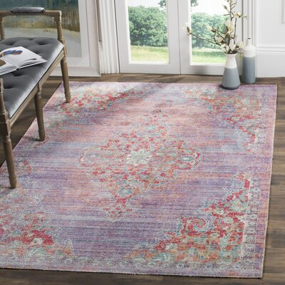 Bangou Lavender/Fuchsia Area Rug Rug Size: Rectangle 4 x 6
