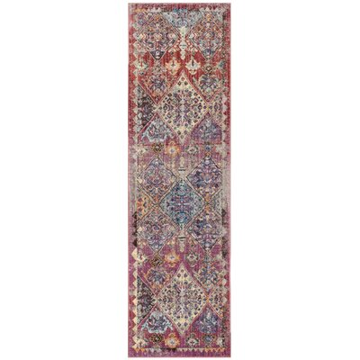 Fitzhugh Rose/Light Gray Area Rug Rug Size: Rectangle 9 x 12