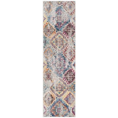 Bower Blue/Light Gray Area Rug Rug Size: Square 7