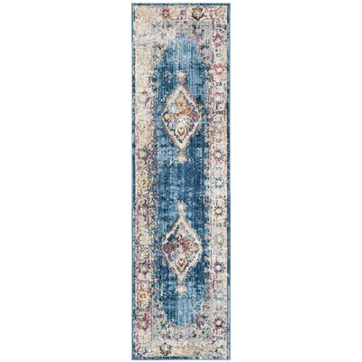 Masvingo Blue/Ivory Area Rug Rug Size: Rectangle 9 x 12