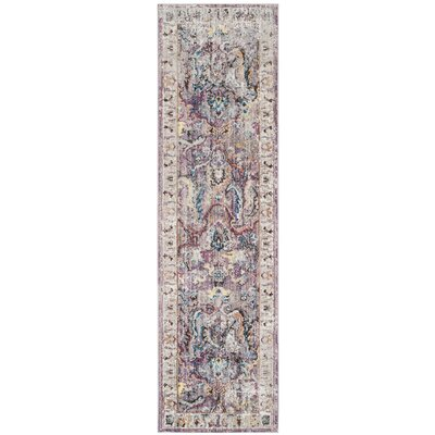 Sarina Lavender/Light Gray Area Rug Rug Size: 8 x 10
