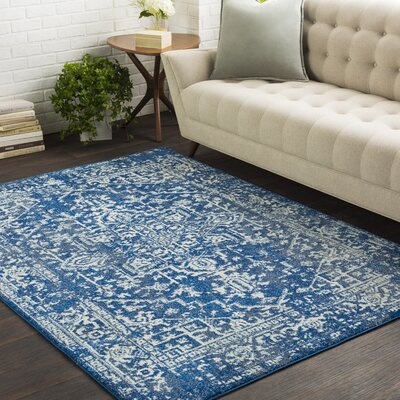 Hillsby Geometric Blue Area Rug Rug Size: Rectangle 53 x 73