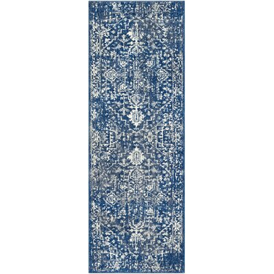 Andover Blue Area Rug Rug Size: Runner 27 x 73
